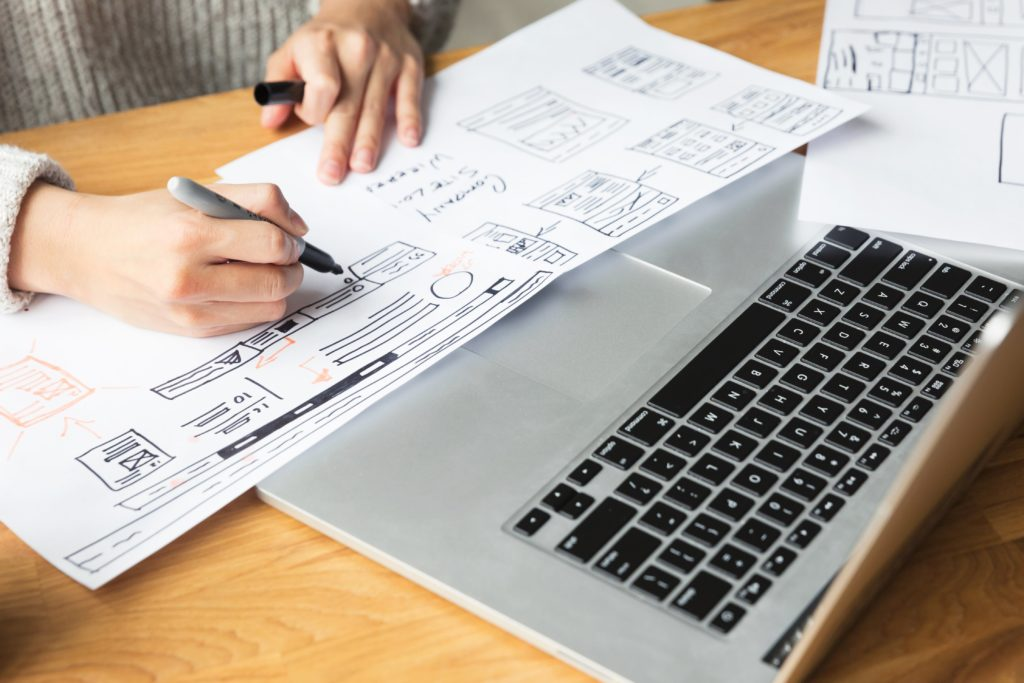 Graphic & Web Designer website storyboarding